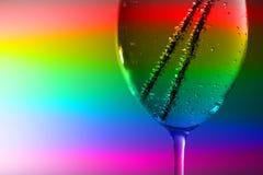 Bevande della soda in vetro isolato su bianco Fotografie Stock Libere da Diritti