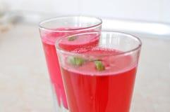 Bevande di colore rosso Fotografia Stock Libera da Diritti