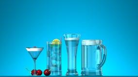 Bevande di estate Immagine Stock