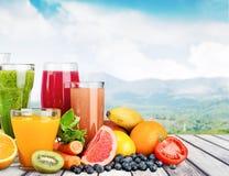Bevande di frutta Immagine Stock