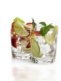 Bevande di frutta con ghiaccio Fotografia Stock Libera da Diritti