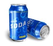 Bevande di rinfresco della soda in latte del metallo illustrazione di stock
