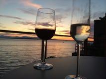 Bevande di tramonto Fotografie Stock Libere da Diritti