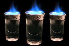 Bevande fiammeggiare Fotografia Stock Libera da Diritti