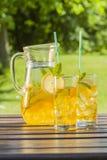 Bevande fredde di estate in giardino Immagini Stock Libere da Diritti