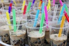 Bevande fresche con la gelatina dell'erba Fotografia Stock Libera da Diritti