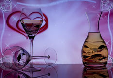 Bevande per due Fotografia Stock Libera da Diritti