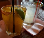 Bevande a Rosa Mexicano Fotografie Stock Libere da Diritti