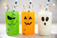 Bevande sveglie di Halloween Fotografie Stock
