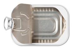 bevara öppen tin för fisken Royaltyfri Bild