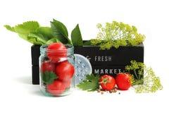 Bevara tomater arkivfoto