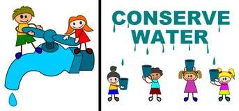 bevara vatten royaltyfri illustrationer