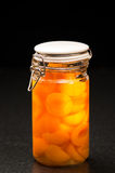 bevarade aprikosar Arkivbild