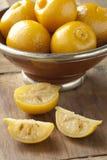 Bevarade marockanska citroner Arkivbild