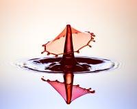 Bevattna färgstänk Fotografering för Bildbyråer