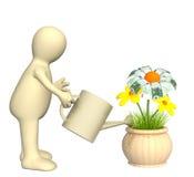 bevattna för docka för blomma monetärt vektor illustrationer