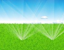 bevattna för lawn stock illustrationer