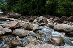 Bevattna flöden Arkivbild