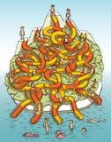 Bevattna parkerar Mazeleken royaltyfri illustrationer
