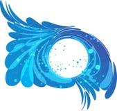 Bevattna ramen, färgstänk av vattenflöde i en cirkel Royaltyfri Bild