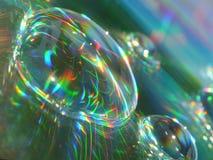 Bevattna reflexioner arkivbild