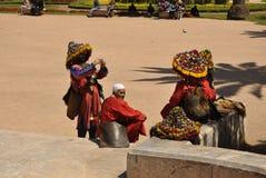 Bevattna säljare i Casablanca, April 20,2012 Fotografering för Bildbyråer