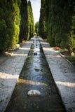 Bevattna särdraget den Balchik slottbotaniska trädgården i Bulgarien Arkivfoton