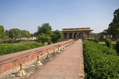 Bevattna slotten, Deeg, Rajasthan, Indien Royaltyfri Bild