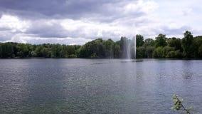 Bevattna springbrunnen Arkivfoto