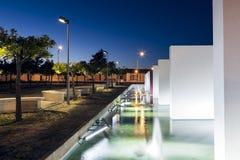 Bevattna springbrunnmonumentet i Castro Verde, Alentejo Arkivbild