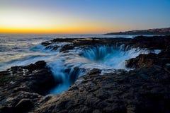 Bevattna virvel, Bufadero de la Garita, Telde, Gran Canaria, Spanien Royaltyfri Foto