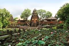 Pura Taman Saraswati Tample i Ubud, Bali, Indonesien Arkivbilder