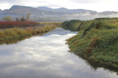 Bevattningkanal i vinter Royaltyfri Foto