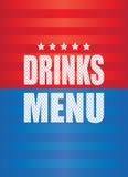 Beve il fondo del menu Fotografia Stock