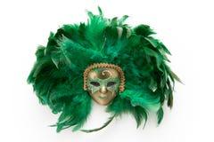 Bevederd masker royalty-vrije stock fotografie