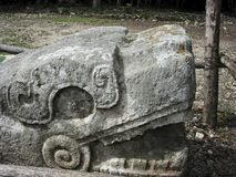 Bevederd serpent van Chichen Itza royalty-vrije stock foto's