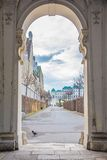 Bevedere Palace and Park in Vienna Stock Photos
