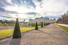 Bevedere Palace and Park in Vienna Stock Photography