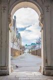 Bevedere Palast und Park in Wien Stockfotos