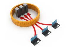 Beveilig computernetwerk Stock Afbeeldingen