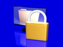 Beveilig Dossier vector illustratie
