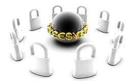 Beveilig Financiële Gegevens Stock Afbeelding