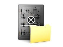 Beveilig Folder Royalty-vrije Stock Afbeeldingen