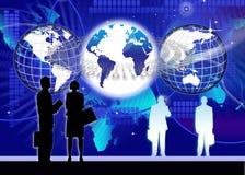 Beveilig Globale Informatietechnologie Stock Foto's