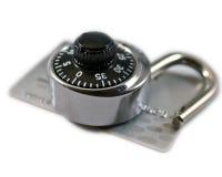 Beveilig het Kopen op Internet Stock Foto