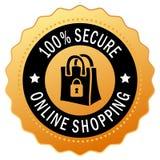 Beveilig het winkelen pictogram Royalty-vrije Stock Afbeelding