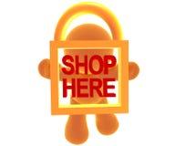 Beveilig het winkelen pictogramsymbool stock illustratie