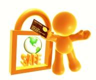 Beveilig het winkelen pictogramsymbool royalty-vrije illustratie