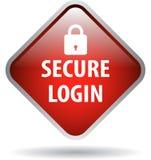 Beveilig login Webknoop vector illustratie