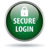 Beveilig login Webknoop stock illustratie